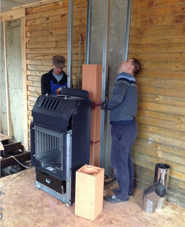 Установка отопительной печи в деревянном доме 123