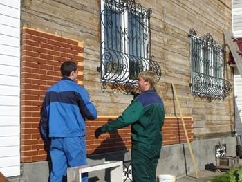 Монтаж термопанелей на стену из дерева