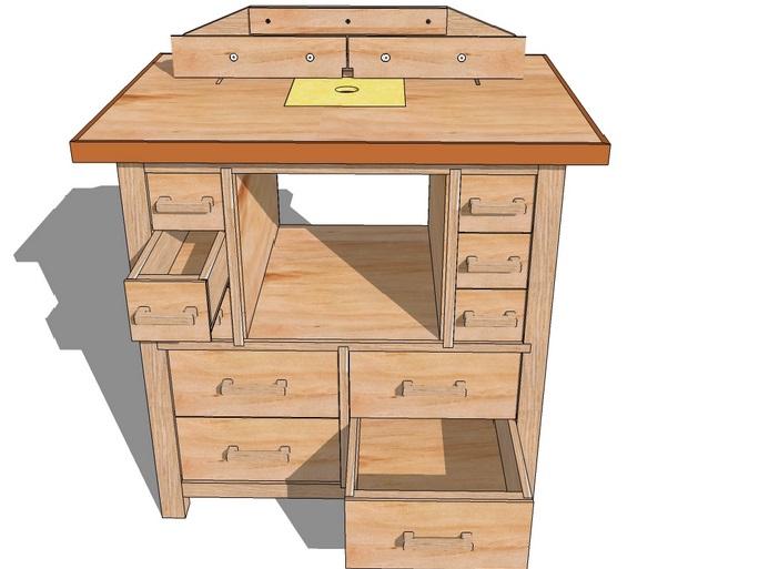 Можно изготовить примерно такой стол для станка.