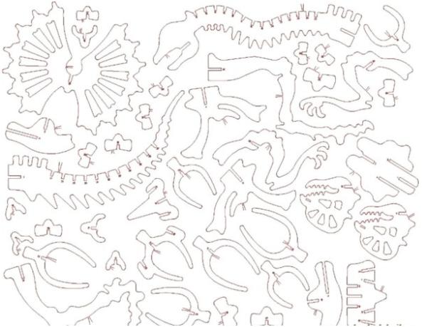 Детали динозавра