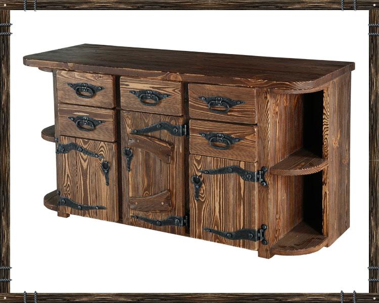 На фото показана декоративная мебельная фурнитура с имитацией художественной ковки.