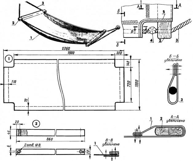 На фото представлена более простая схема гамака