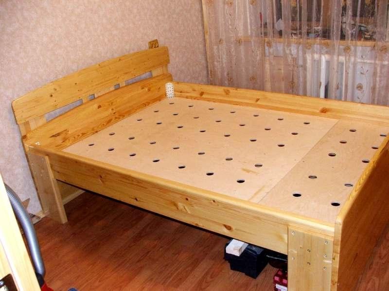 Как делать кровать из дерева своими руками