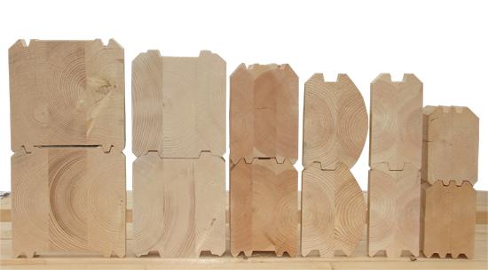 На фото разновидности бруса в соответствии с формой поперечного сечения