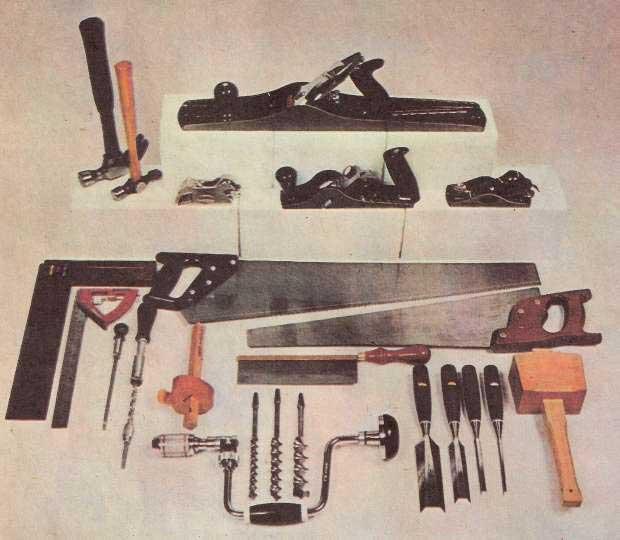 Набор столярного инструмента.