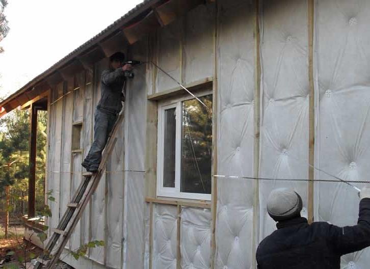 Наружное утепление стен дома из бруса