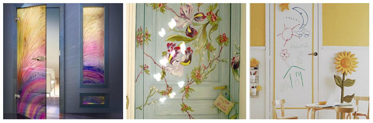 Несколько любопытных способов декора двери