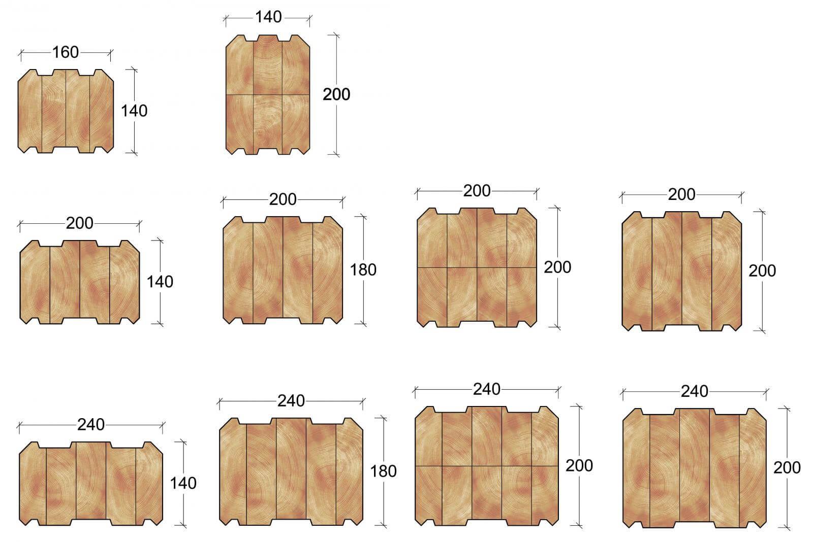 Объем нужного материала зависит от его сечения.