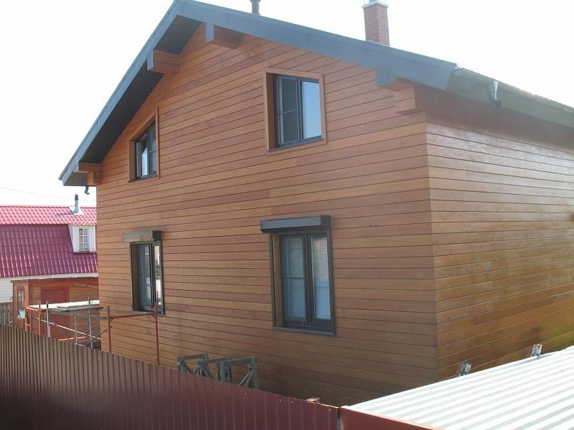 Фасад имитация бруса фото