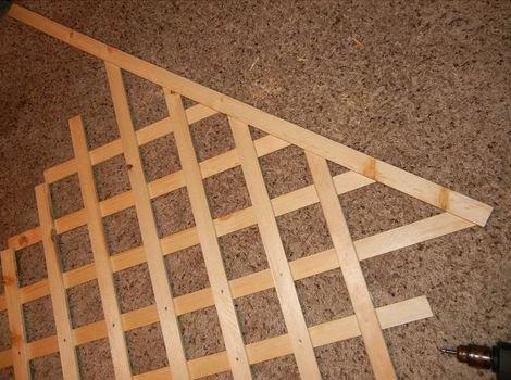 Деревянная шпалера своими руками пошаговая инструкция