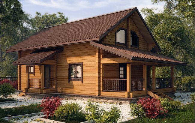 Одноэтажный финский дом из бруса на загородном участке