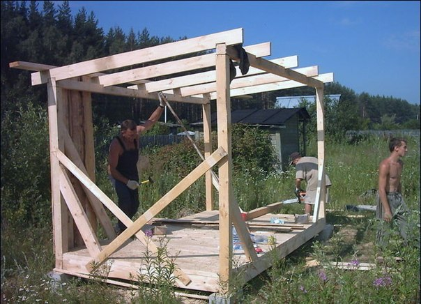 Деревянный сарай своими руками пошаговая инструкция