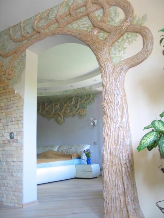 На стене своими руками объемное дерево