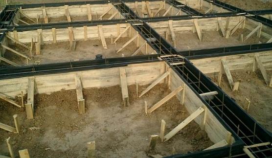 Опалубочная система, готовая к заливке бетона