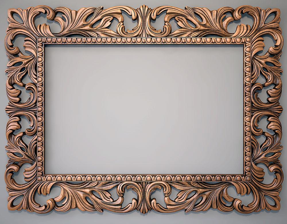 Рамку для большого зеркало своими руками