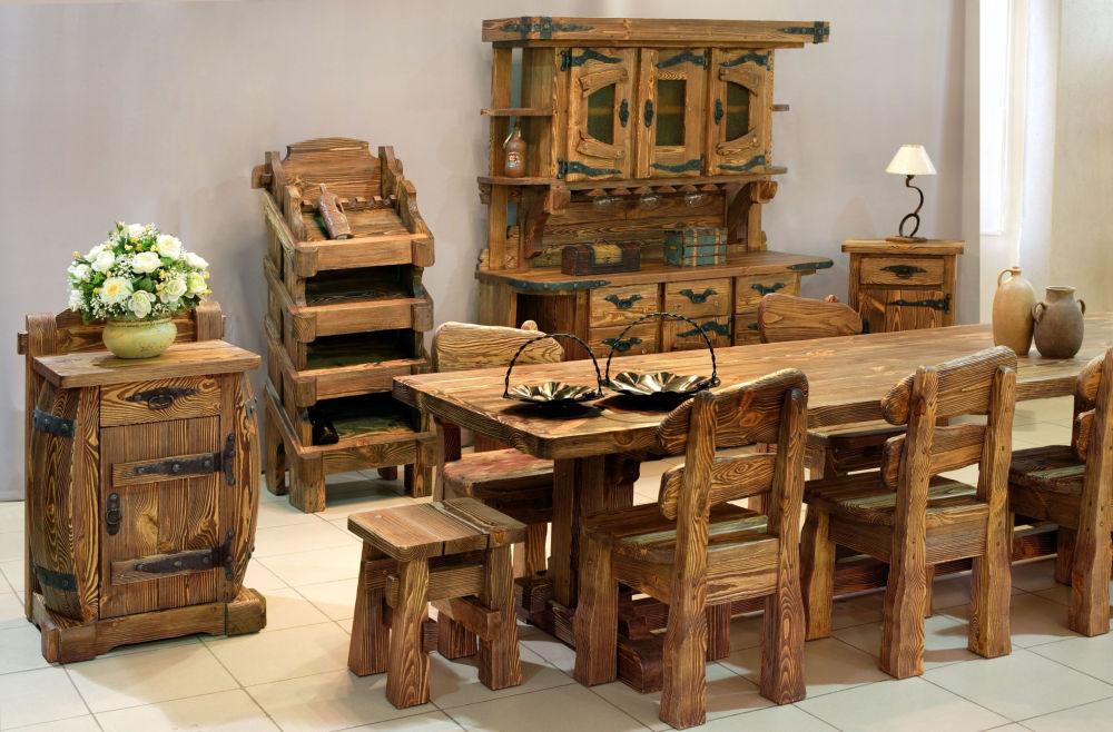 Мебель из состаренной древесины