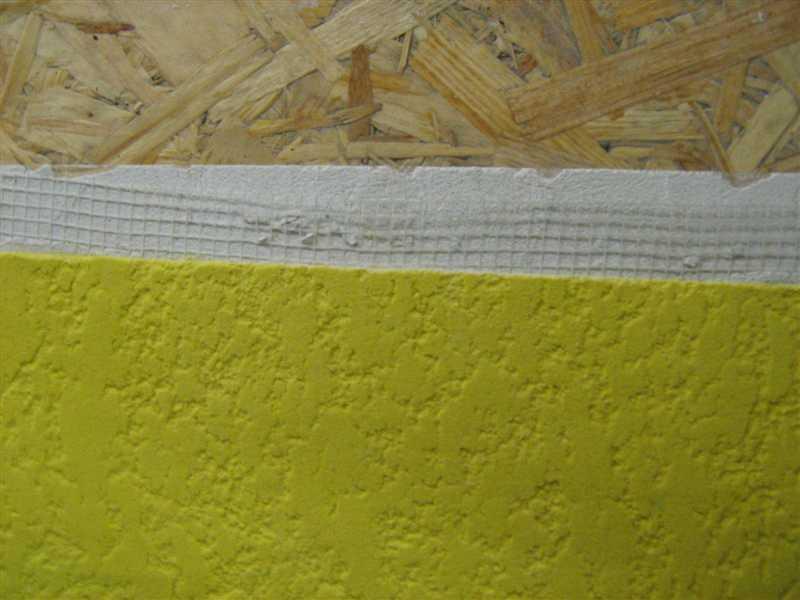Отделка ОСБ: шпатлевка + штукатурная сетка + декоративная штукатурка или структурная краска
