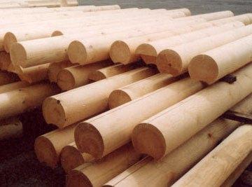 Оцилиндрованные брусья – популярный строительный материал