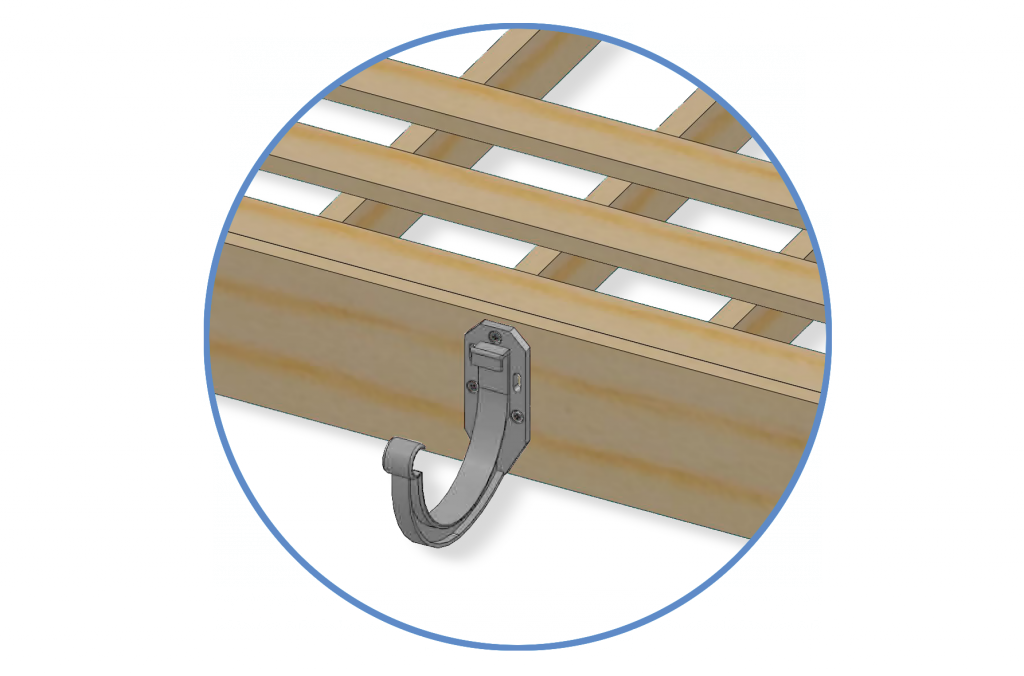 Пластиковый крепеж притягивается непосредственно к лобовой доске.