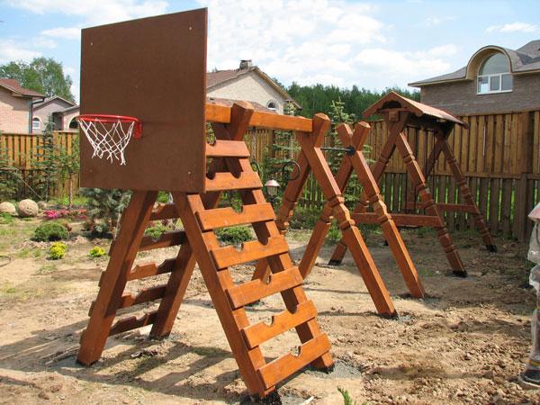 Детская игровая площадка из дерева своими руками