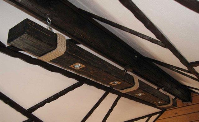 Фото светильников своими руками из дерева для бани