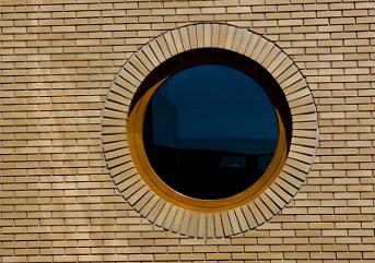 Полностью глухие деревянные круглые окна
