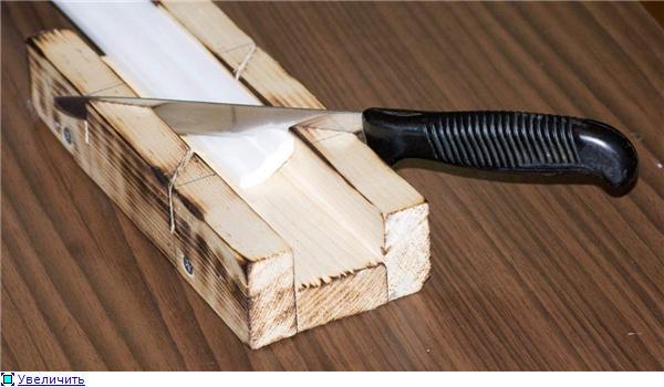 Порезка галтели с использованием стусла