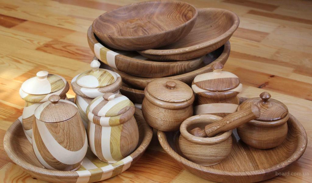 Как изготовить посуду из дерева