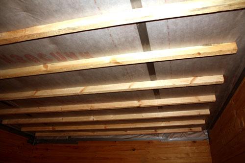 Потолок, подготовленный к отделке