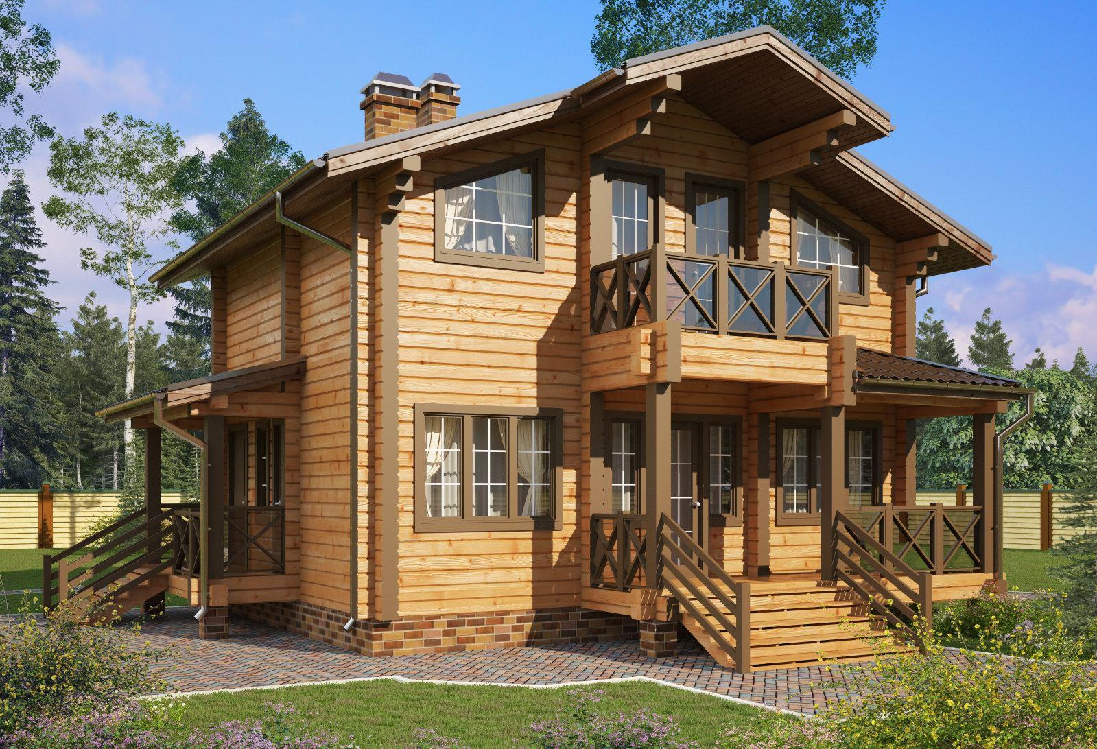 Прекрасные проекты брусовых домов 8х8 порадуют даже наиболее требовательных застройщиков.