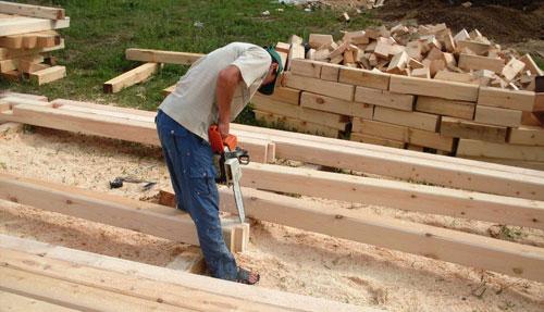 Строительство дома из дерева своими руками видео