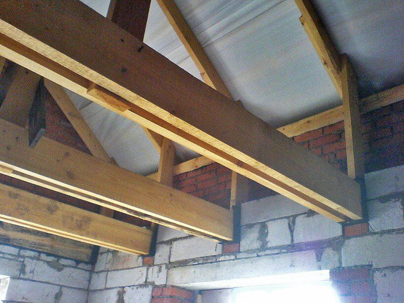 Применение в качестве балок потолочного перекрытия