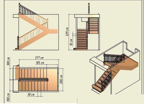 Чертежи лестниц из дерева своими руками