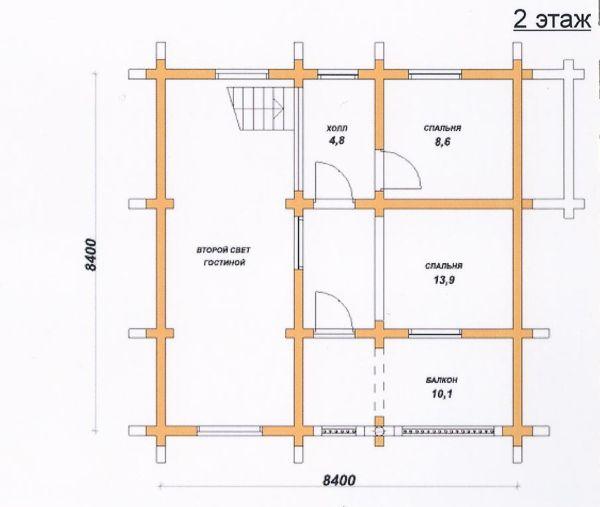 Пример комбинированной планировки мансардного этажа