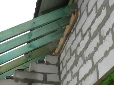 Пример крепления стропил к стене