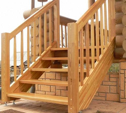 Пример лестницы крыльца на тетивах
