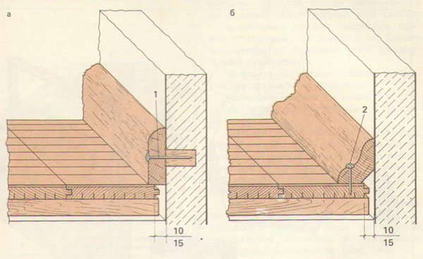Установка деревянного плинтуса на пол своими руками