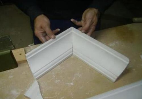 Пример правильного соединения багетов