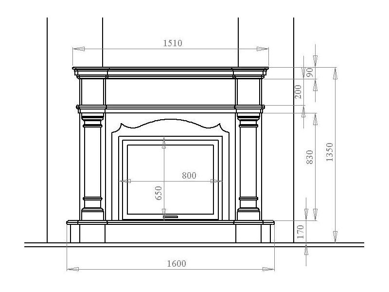 Пример проекта декоративного камина