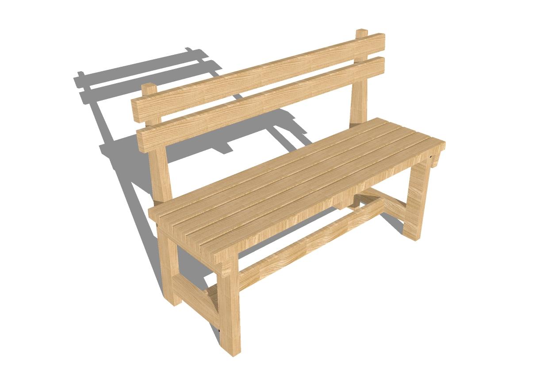 Скамейки из дерева своими руками со спинкой