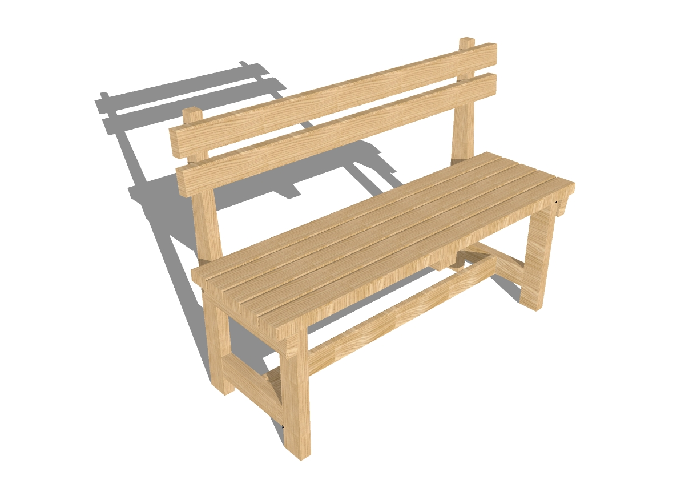 Чертеж скамейка своими руками из дерева
