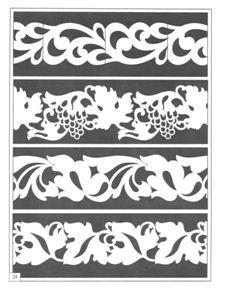 Примеры орнаментов для прорезной резьбы