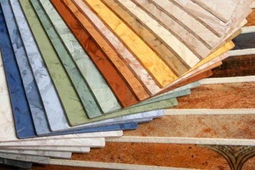 Примеры различных расцветок линолеумного покрытия