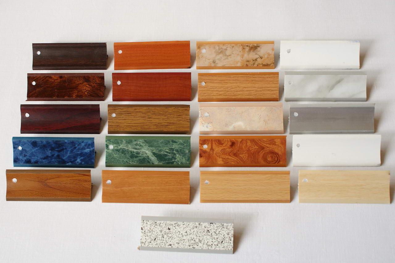 Примеры возможных расцветок галтелей из пластика