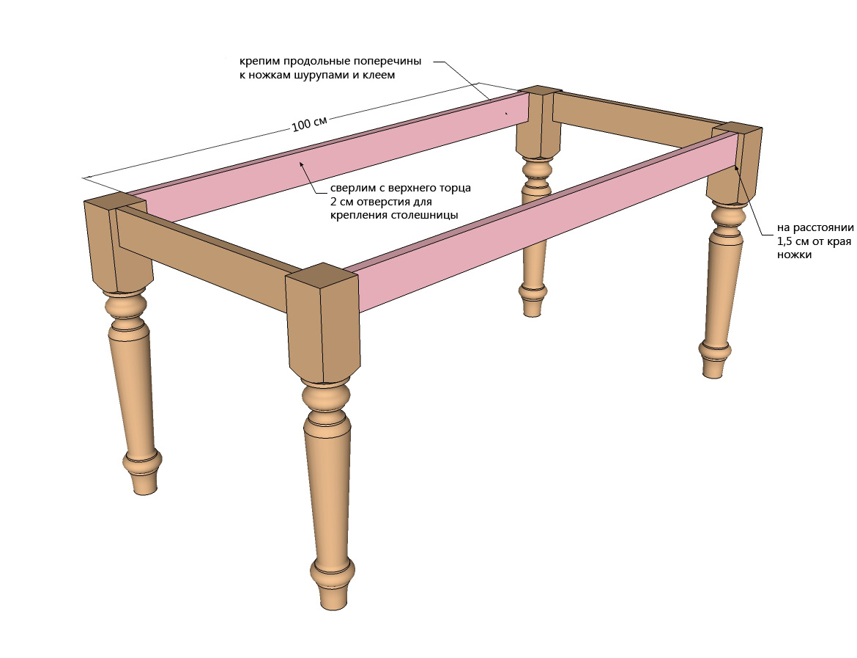 Столик из дерева чертежи
