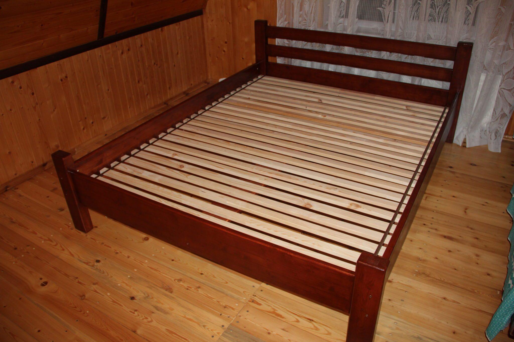 Двуспальная деревянная кровать своими руками фото