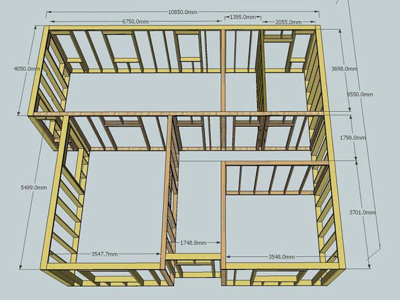 Как построить каркасный дом своими руками двухэтажный