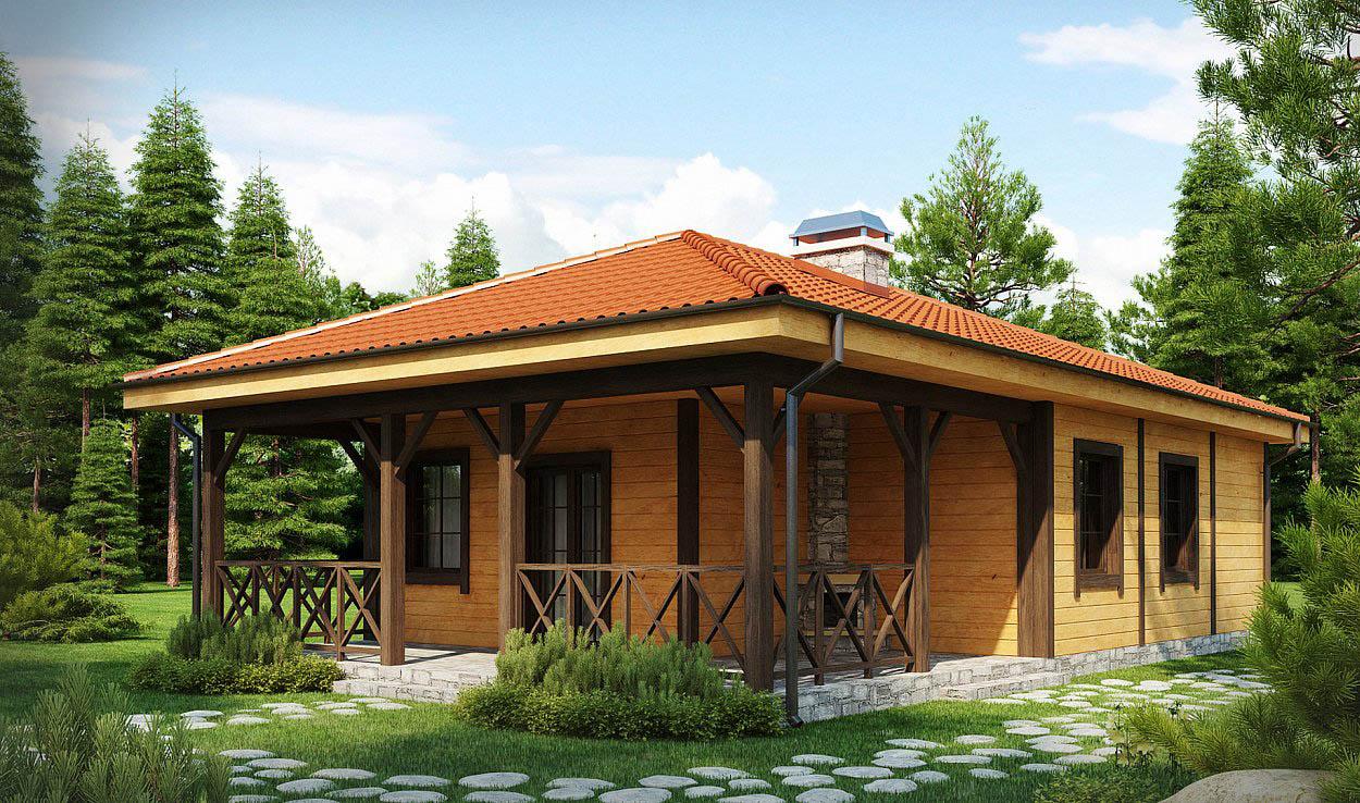 Проекты деревянных одноэтажных домов до 120 м2 – компромиссное решение для владельцев небольших дач.