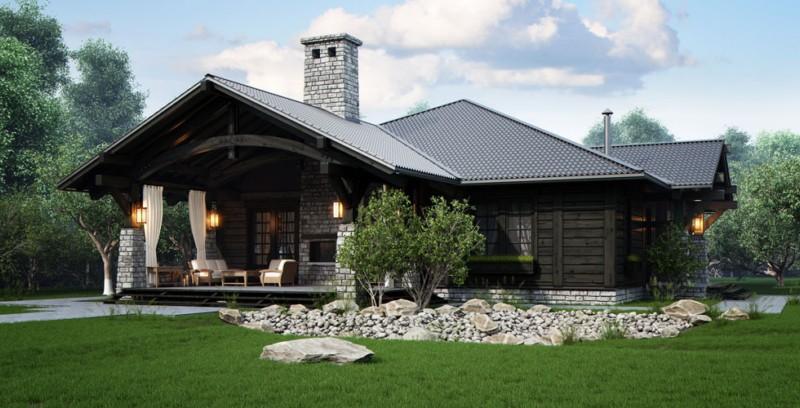 Проекты одноэтажные деревянные домов представлены в различных архитектурных стилях.