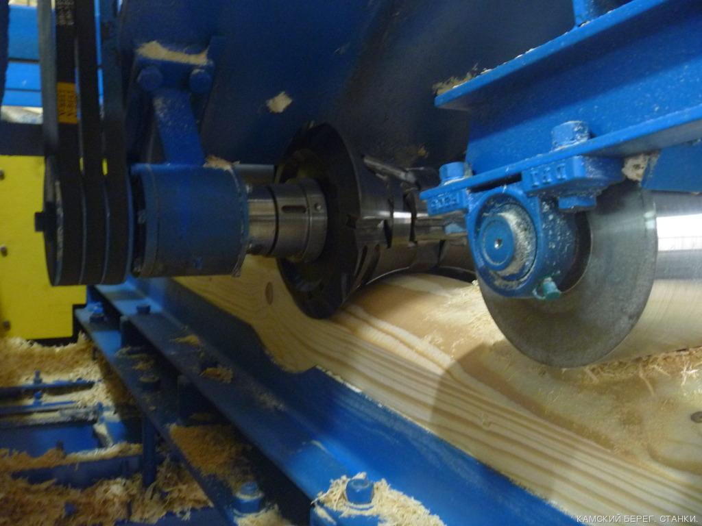 Производственный процесс создания бруса